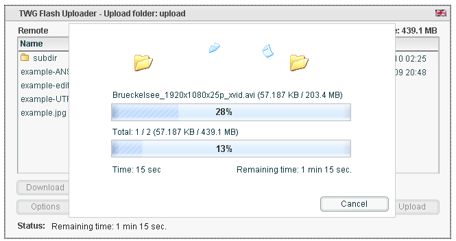 File uploader preview image